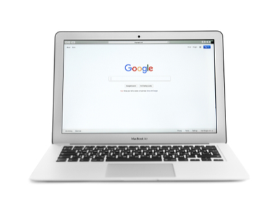 laptop showing Google
