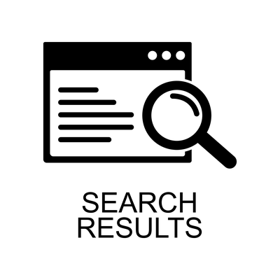 search results icon with magnify glass