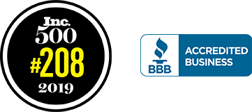 inc 500 and bbb badges