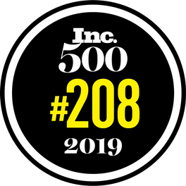 Inc 500 award #208 in 2019