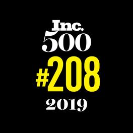Inc 500 award #208 in 2019