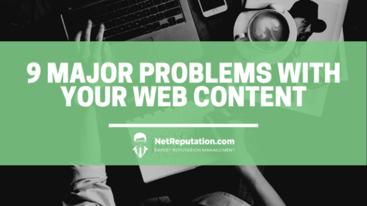 9 major problems with your web content