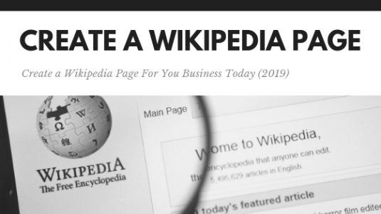 Creating A Wikipedia Page
