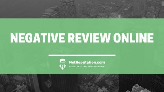 remove a negative online review with Net Reputation