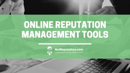 Online Reputation Management Tools - NetReputation