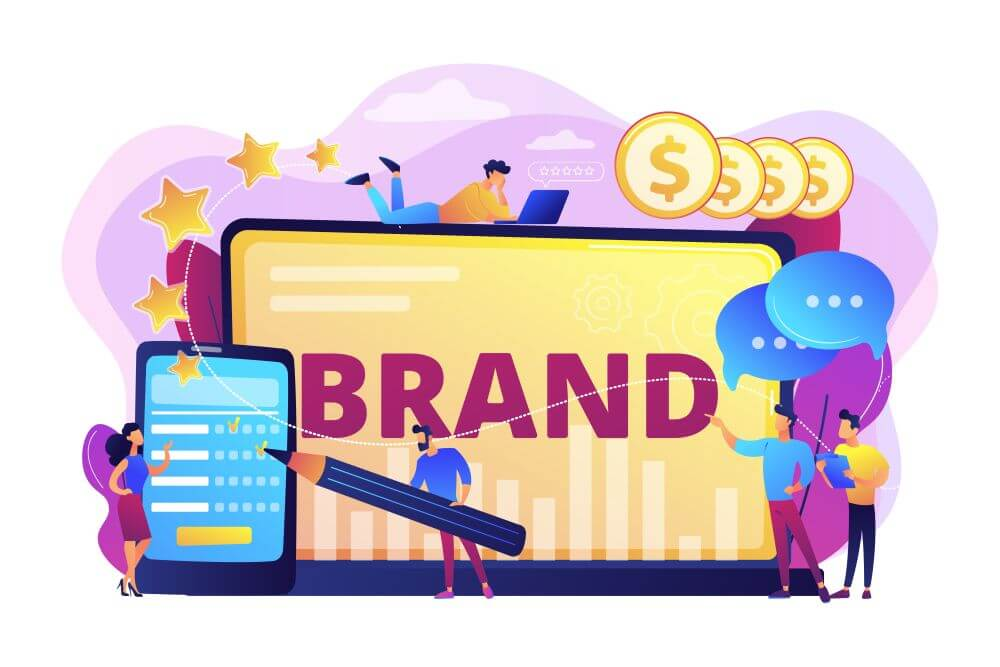 People building a brand's reputation