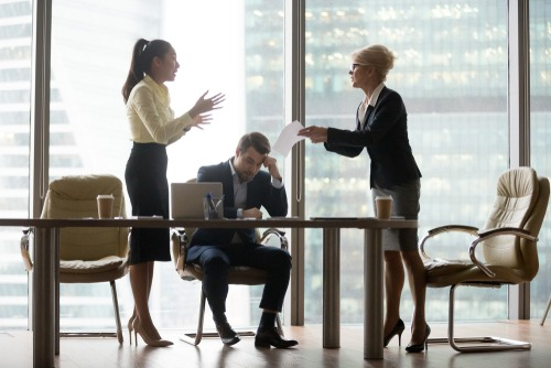 Remove Complaints Board room conversation with 3 people