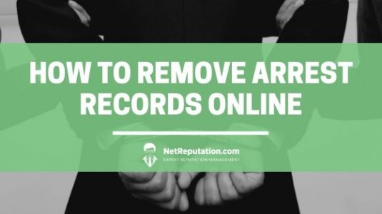 Remove arrest records from online