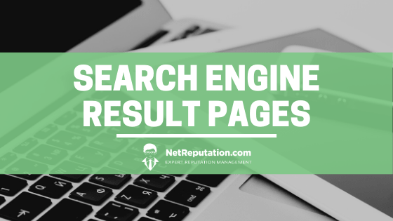 Search Engine Result Pages - Net Reputation