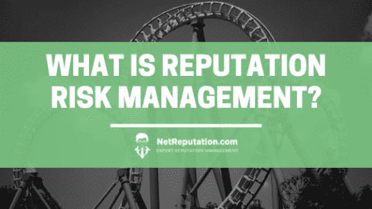 What is Reputation Risk Management - NetReputation