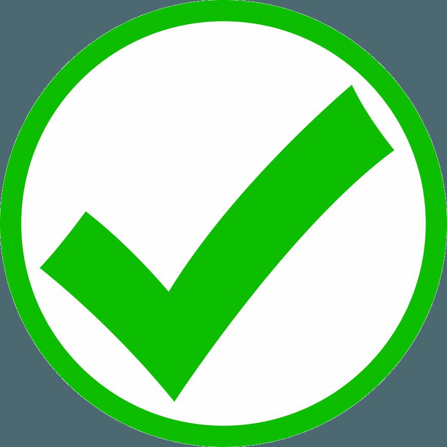 lime green check mark