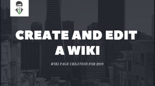 create and edit a wiki featured