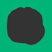 white icon with green circle