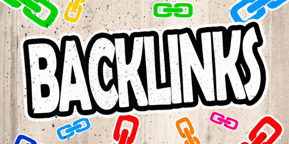 graffiti of backlinks with chain links