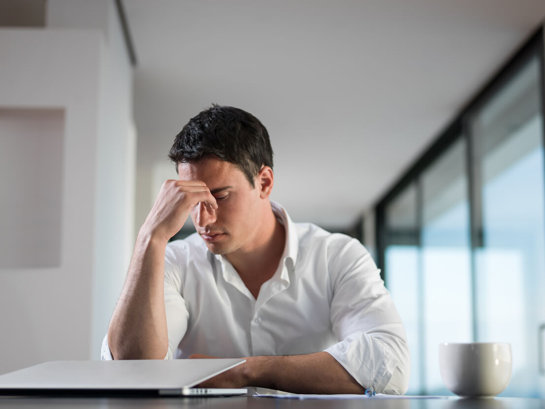 man upset about his brand's reputation management results