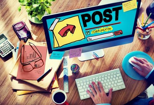 blog posting strategy on laptop