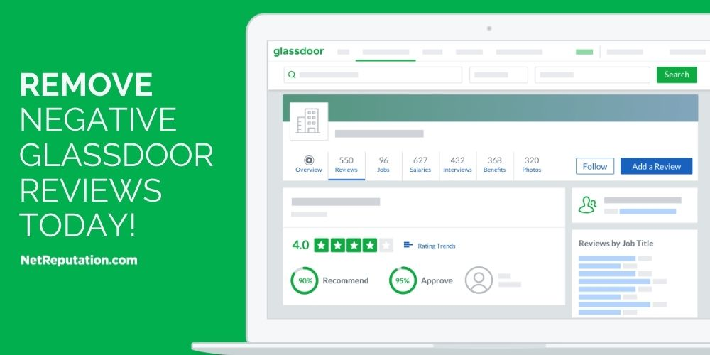 remove negative reviews from Glassdoor