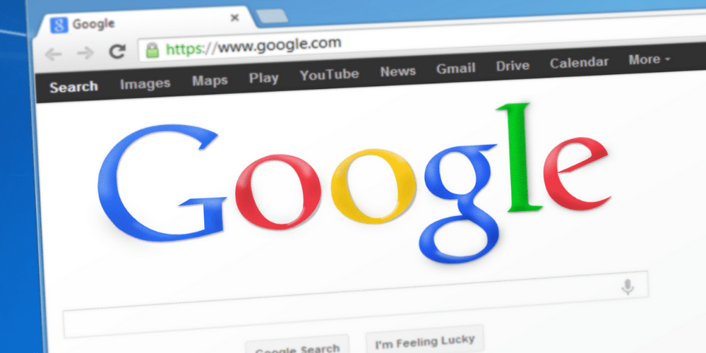 screen of google homepage