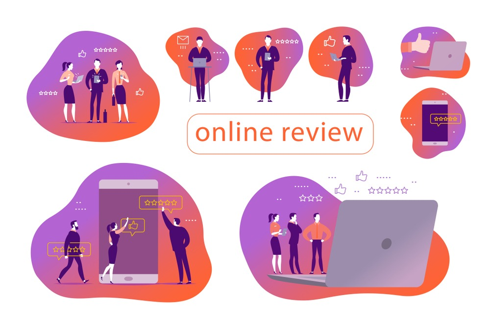 online reviews and customer feedback