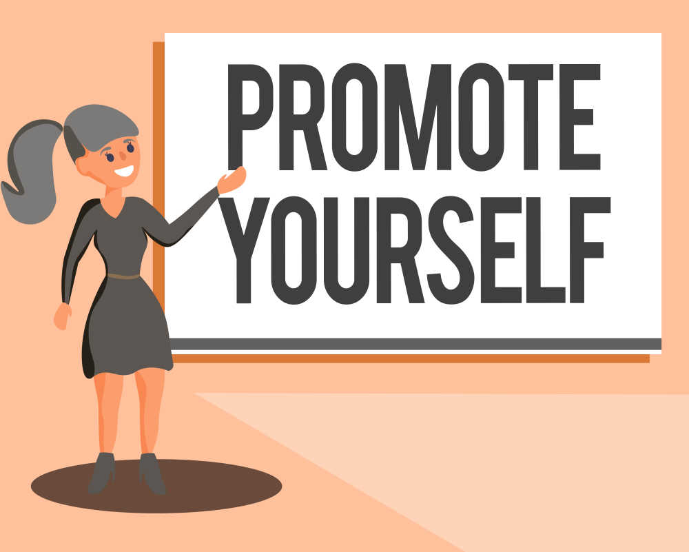female promote yourself