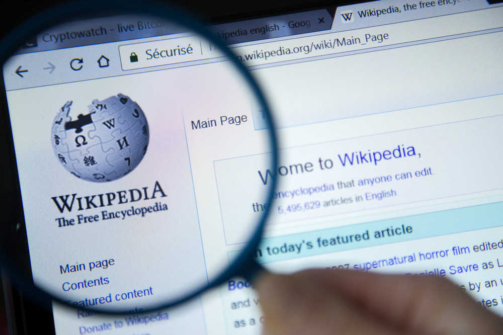 how to create a Wikipedia page for a magnify glass