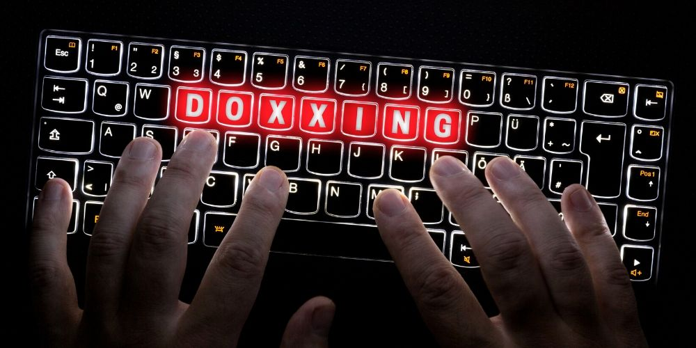 typing what is doxxing on keyboard